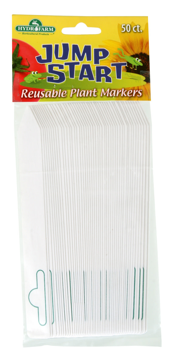 """Generic Generic - 6""""x5/8"""" White Plant Tags (50 Pack)"""