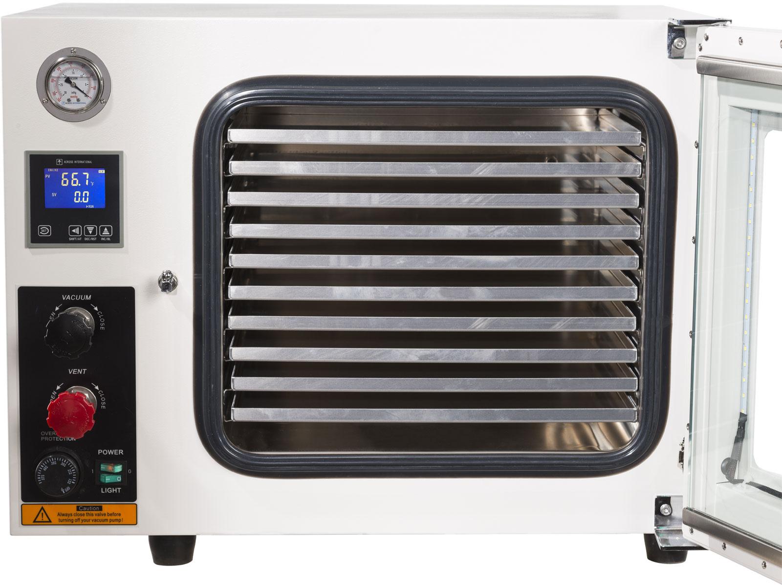 Across International Across International - 250C UL Certified 1.9 CF Vacuum Oven 5 Sided Heat SST Tubing