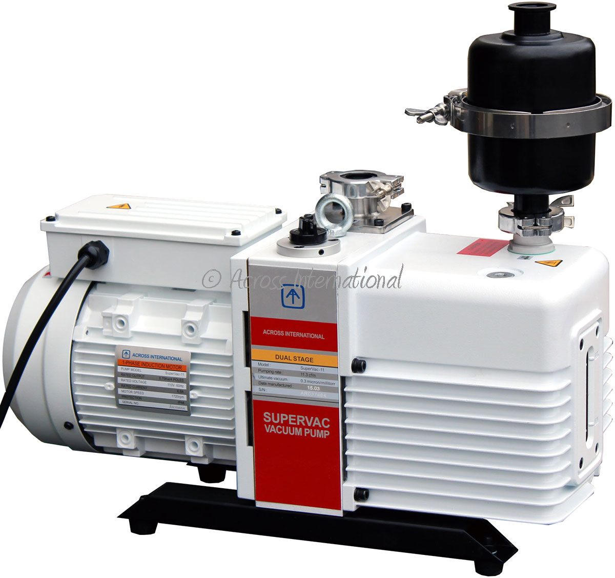 Across International Across International - SuperVac Corrosion-Resistant 2-Stage Vacuum Pumps UL Certified