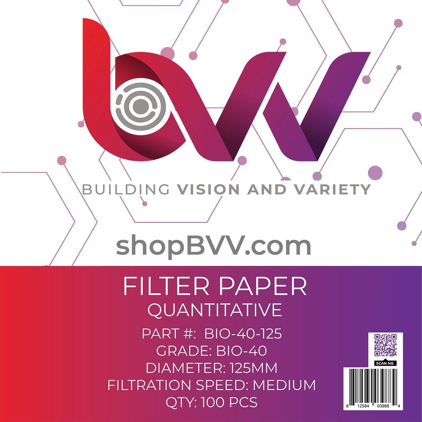 Generic Ashless Filter Papers - 125MM - Quantitative