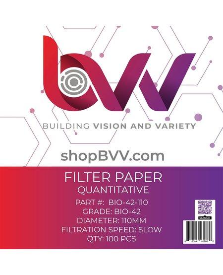 Ashless Filter Papers - 110MM - Quantitative