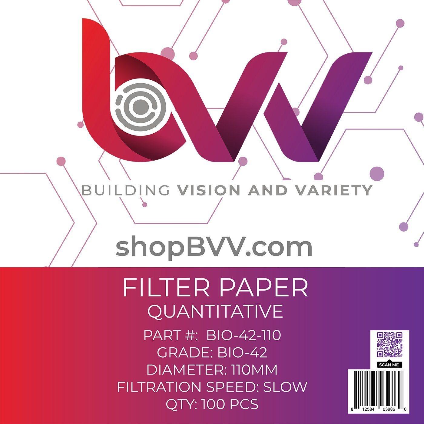 Generic Ashless Filter Papers - 110MM - Quantitative