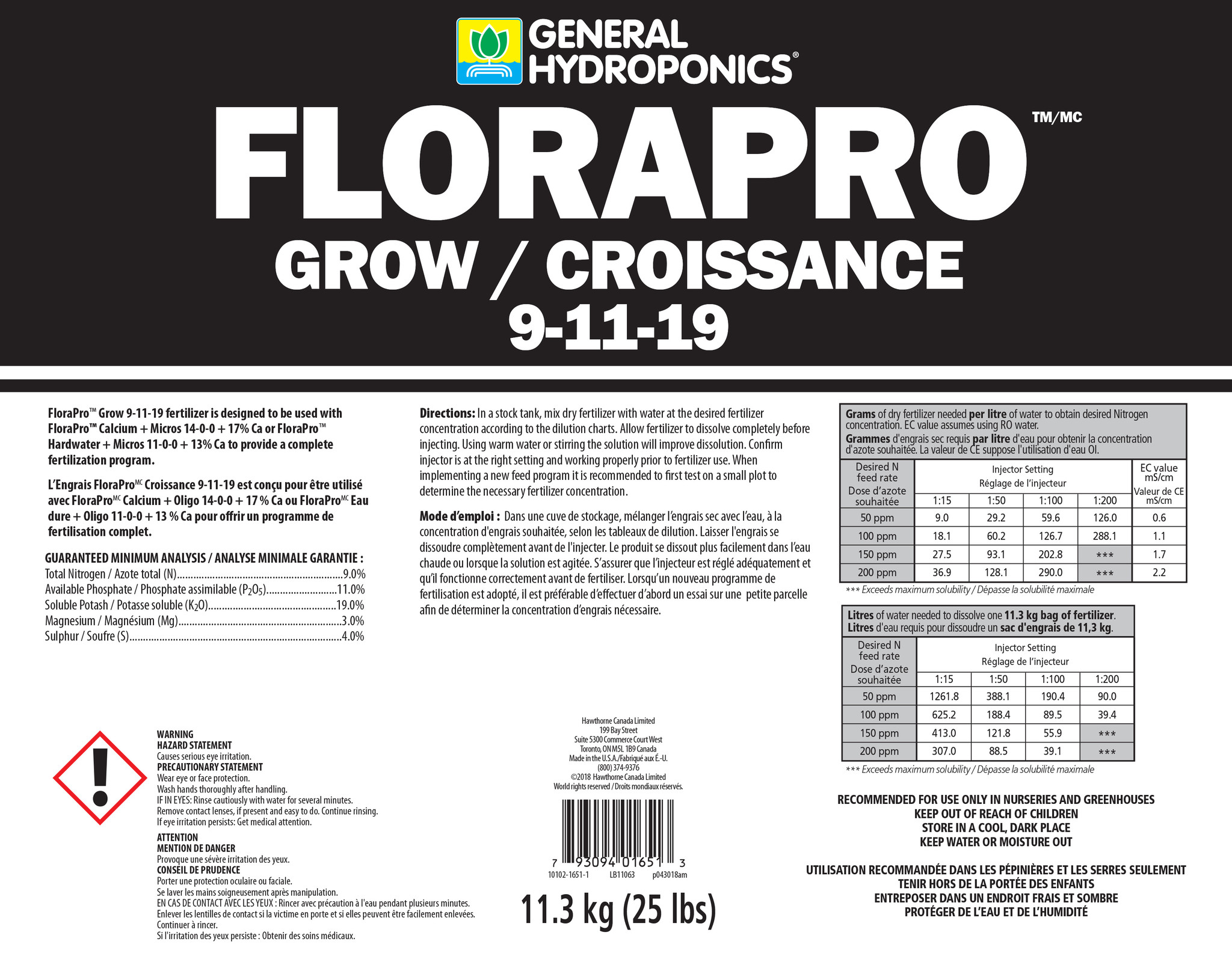 General Hydroponics General Hydroponics - FloraPro Grow 25lb