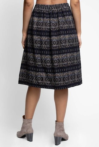 Local Celeste Cotton Skirt Black Mix