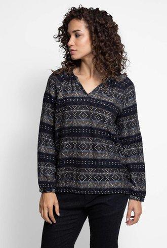 Local Ramona Cotton Shirt Black Mix