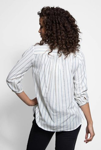 Bsbee Linda Shirt Navy Stripe