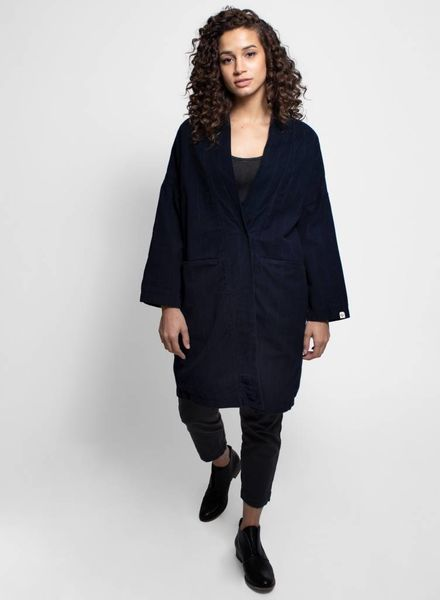 Bsbee Lima Coat Navy Stripe