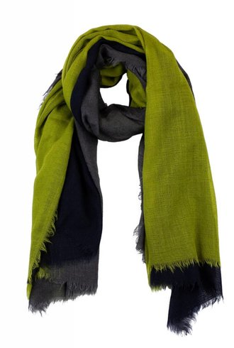 Destin Triple Quadra Scarf Charcoal Avocado