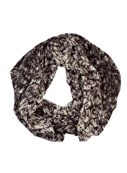 Burning Torch Eris Printed Cashmere Scarf Storm