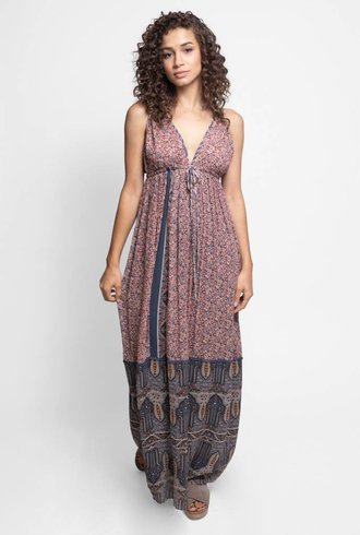 Burning Torch Summer Palace Halter Dress