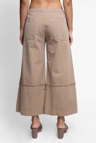 Burning Torch Cotton Chino Culottes Khaki