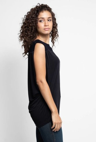 Burning Torch High Desert Dolman Top Black