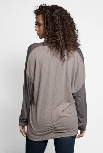 Burning Torch Dione Long Sleeve V-Neck Blouse