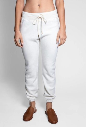 The Great The Warm-up Sweatpant Washed White
