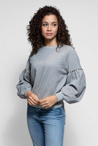 The Great The Bishop Sleeve Sweatshirt Grey