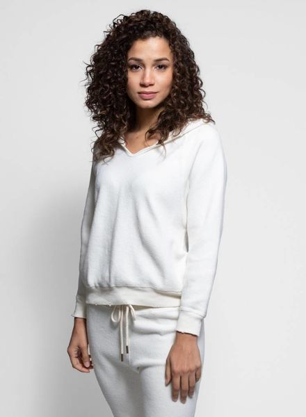 The Great The Notch Hoodie Washed White