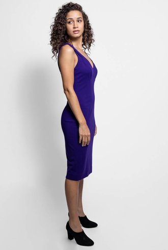 Nicole Miller Double Strap Dress Purple