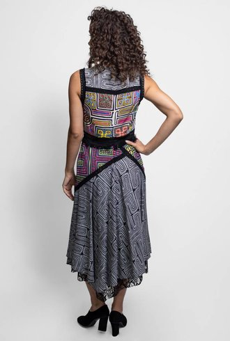 Nicole Miller Runway Dress Multi