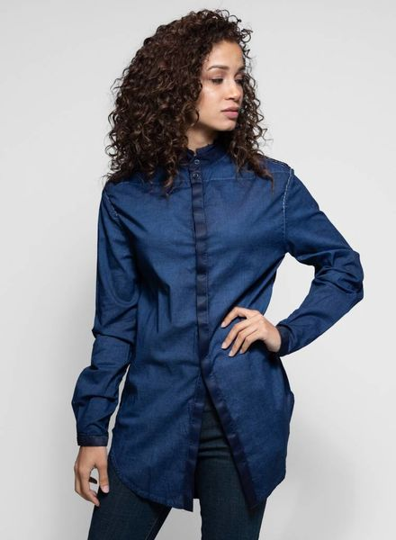 Umit Unal Silk Cotton Shirt Indigo
