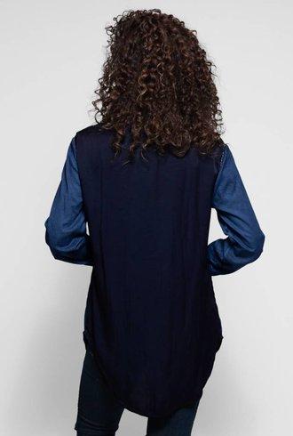 Umit Unal Silk Cotton Shirt Indigo