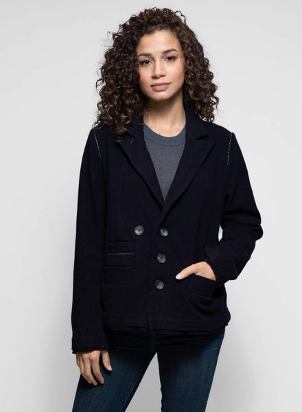 Umit Unal Coat Dark Navy