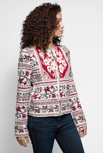 Knitted Contrast Cardigan