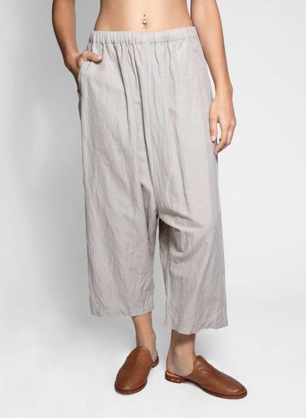 Vlas Blomme Grid Pant Relaxed Fit Pant Beige