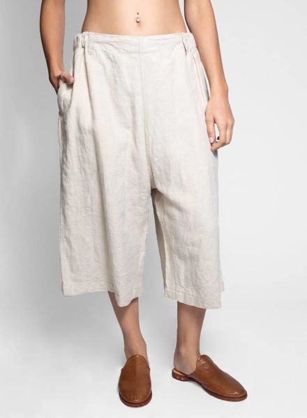 Vlas Blomme Linen Relaxed Git Pant Flax