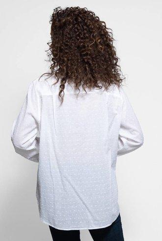 Xirena Bella Swiss Dot Shirt White