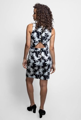Palm Dress Black & White