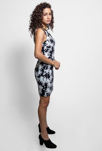 Nicole Miller Palm Dress Black & White