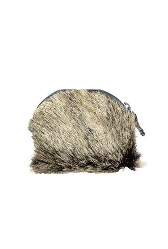 Majo Fur Pouch Black