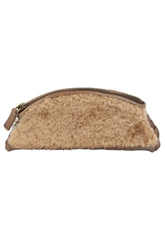 Majo Fur Clutch Bronzo