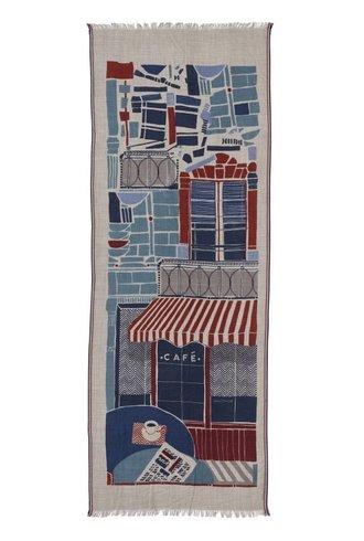 Inouitoosh Cafe De Paris Scarf Blue