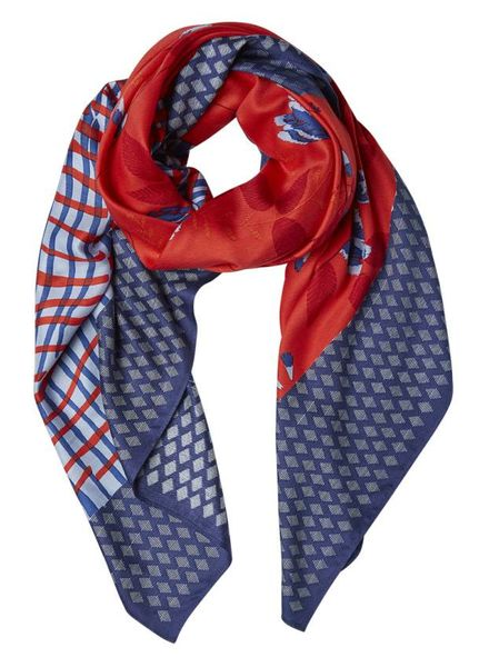 Inouitoosh Mogador Square Scarf Red