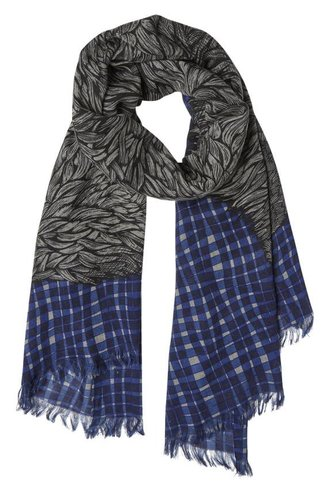 Inouitoosh Woolter Scarf Black Blue