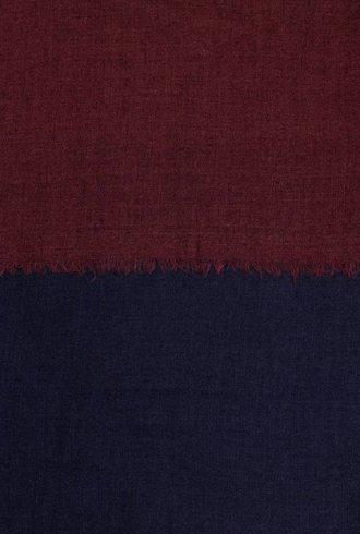 Destin Triple Quadra Scarf Navy Burgundy