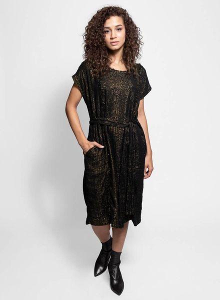 Raquel Allegra Raw Edge T-shirt Dress Black