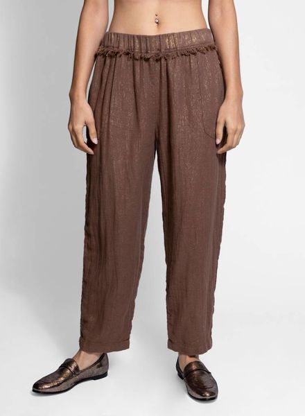 Raquel Allegra Frayed Easy Pant Taupe