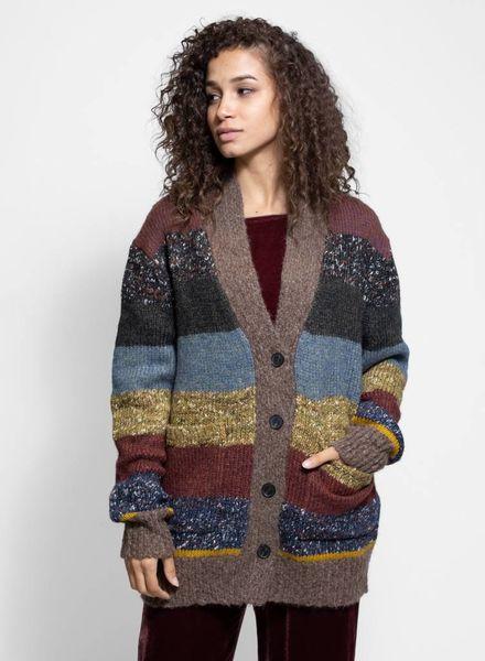 Raquel Allegra Stripe Cardigan Multi Stripe