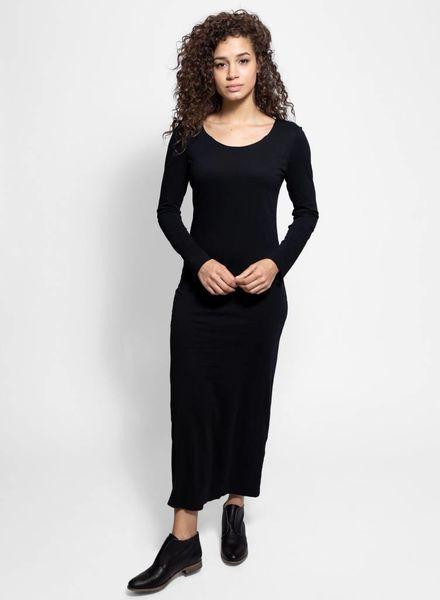 Raquel Allegra Fitted Long Sleeve Dress Black