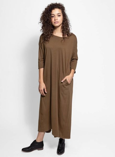 Raquel Allegra Cocoon Dress Army