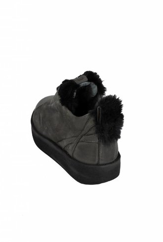 Andia Fora Shearling Sneakers Anthracite