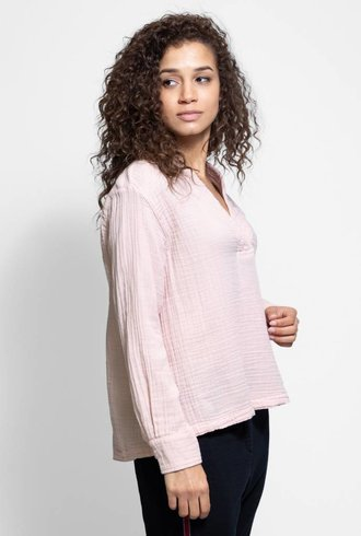 Xirena Ava Chelsea Gauze Top Pink Quartz