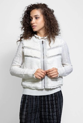 Burning Torch Oslo Reversible Vest Pearl