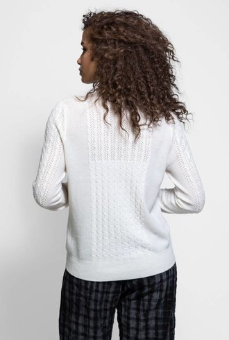 Burning Torch Olympia Cashmere Sweater Snow