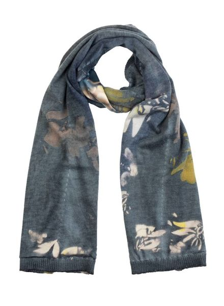 MA+CH Silk Backed Scarf Romance Coal