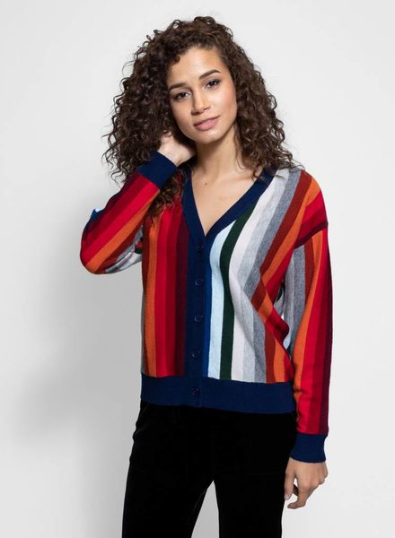 The Great The Co-ed Cardigan Multi Stripe