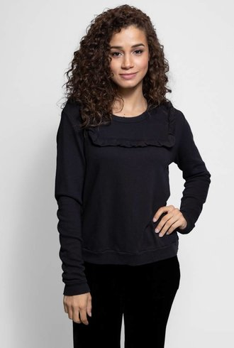 The Great The Shrunken Bib Sweatshirt Black