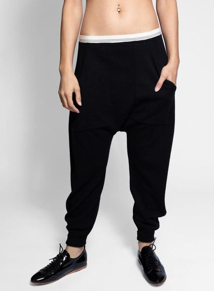 Burning Torch Cashmere Sweats Black
